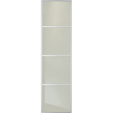 "SOFT WHITE GLASS SLIDING WARDROBE DOOR 4 PANEL 610mm (24"")"